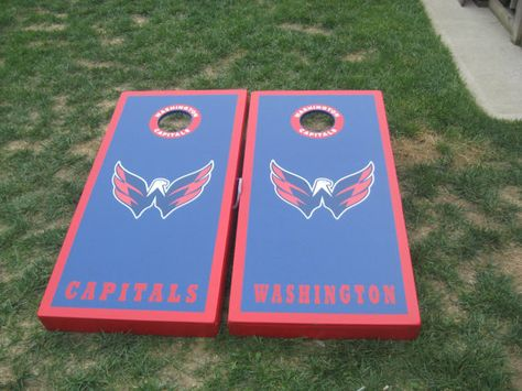 Washington Capitals Cornhole Boards and bags by lawnman2880,