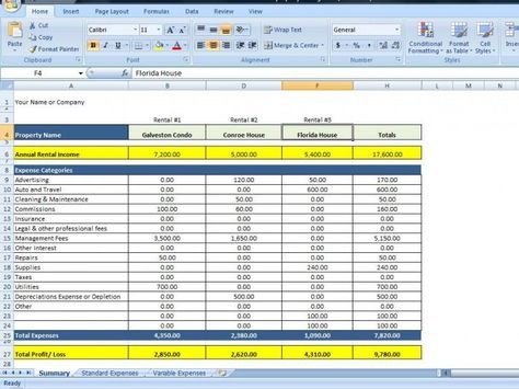 Whether You Have 1 Rental Property Or Many This Spreadsheet