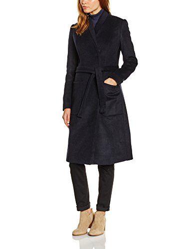 Noa Noa Damen Mantel CLASSIC WOOL Blau (DARK NAVY 566) 40 in