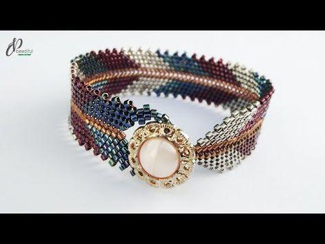 bracelets with beads Beaded Bracelets Tutorial, Beaded Bracelet Patterns, Handmade Bracelets, Beads Tutorial, Jewelry Patterns, Bead Patterns, Armband Diy, Bead Jewelry, Seed Beads