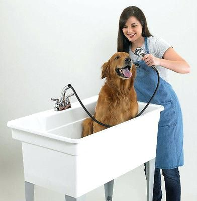 Stunning Utility Tub Laundry Sink W Faucet Large Dog Bathing