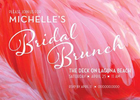 97cfcc9c540f Modern Bridal Shower Invitation   Flamingo Party Invitation   Bridal Shower  Brunch Invitation   Retro Bridal