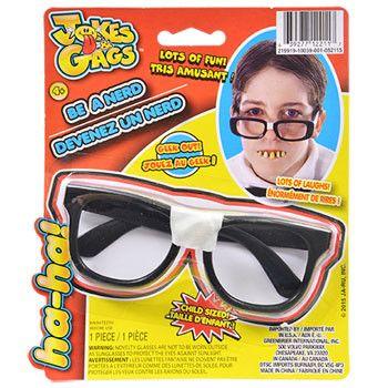 Jokes & Gags Child-Size Nerd Glasses