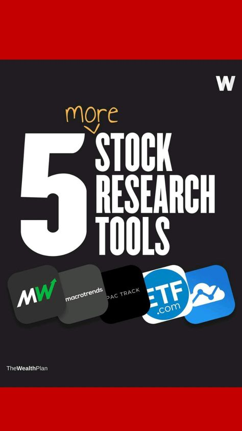 5 STOCK RESEARCH TOOLS YOU NEED TO KNOW