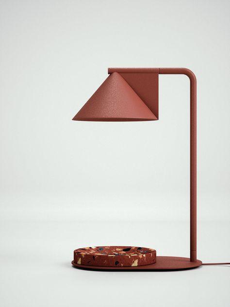 Mercana Art D/écor Visio II Table and Desk Lamps Brass