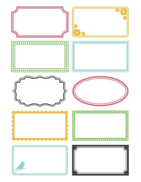 Printable labels from saltandpaper Free printable labels - name labels templates free