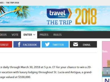 "Travel Channel's ""The Trip: 2018"" Sweepstakes 