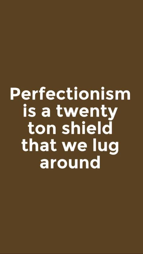What a convicting portrait Brene' Brown paints when she says I n #daringgreatly : #Perfectionism is a twenty ton shield we lug around thinking it will #protect us, when in fact it's the thing preventing us from being #seen . Drop the shield and #soar !
