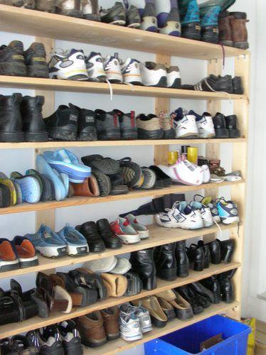 Garage Shoe Rack Storage, Garage Shoe Storage Ideas Diy