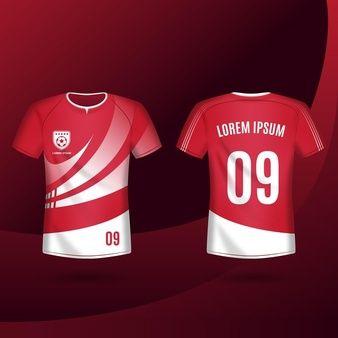 Download Premium Vector T Shirt Mockup Sport Shirt Template Design For Soccer Jersey Soccer Jersey Sports Tshirt Designs Soccer