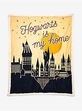 Harry Potter Hogwarts Is My Home Sherpa Throw Blanket Harry Potter Hogwarts Harry Potter Items Harry Potter Decor