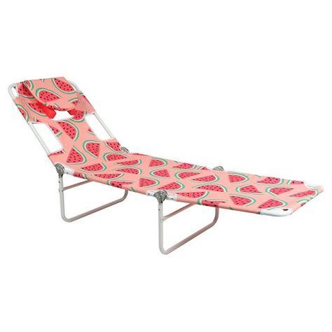 Facedown Beach Lounger Patterned