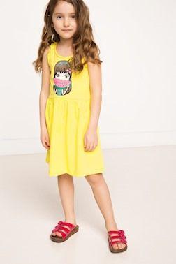 Elbise Baskili Kiz Cocuk Elbise Elbise Moda Stilleri Yazlik Kiyafetler