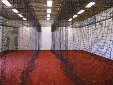 Beautiful Batting Cage In Garage