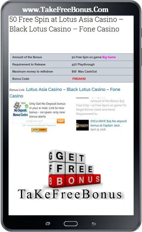 50 Free Spin At Lotus Asia Casino Black Lotus Casino Fone