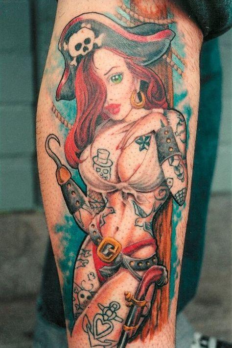 Up designs pin girl tattoo
