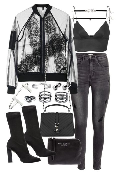 18 Fabulous Ideas of Women 's Clothing Combinations 2018 - Frauen Mode Edgy Outfits, Fashion Outfits, Fashion Trends, Outfits Riverdale, Yves Saint Laurent, Looks Style, My Style, Outfit Chic, Topshop