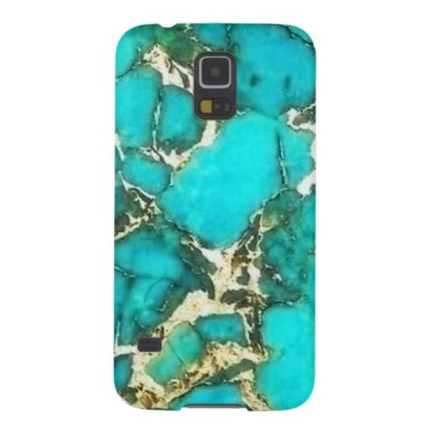 Turquoise Gemstone with Pyrite Matrix Galaxy S5 Case