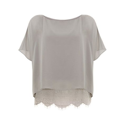 most popular various design detailed look Buy Mint Velvet Lace Layer Top, Dove Online at johnlewis.com ...