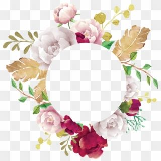 Flower Frame Flower Frame White Pink Red Burgundy Transparent Floral Frame Png Png Download Flower Frame Flower Frame Png Transparent Flowers