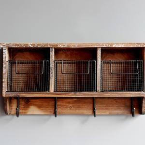 Urban Legacy 3 Wooden Cubbies With Coat Hooks Wooden Cubby Cubby Shelves Decor Vintage Cubby