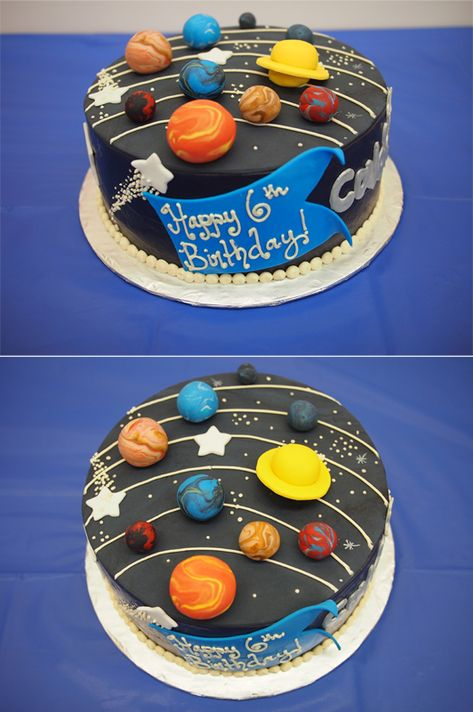Solar System Cake by Stefanie Buono | Frosted Cupcakes & Cakes in Edmonds, WA - http://www.cakesbyfrosted.com
