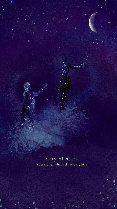 Imagem de la la land, stars, and wallpaper