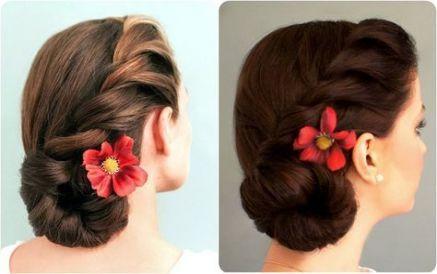23 Trendy Hairstyles Easy 50s Side Bun Hairstyles Wedding Guest Hairstyles Side Braid With Bun