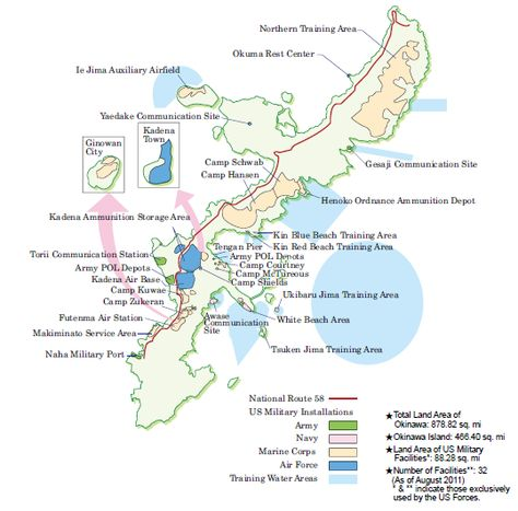 US Military Base Map In Okinawa Research Web Site Okinawa - Us military bases in okinawa map