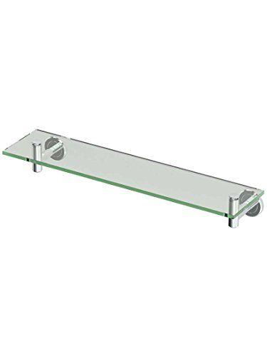 Gatco 4246 Latitude Glass Bathroom Shelf In Polished Chrome 4246