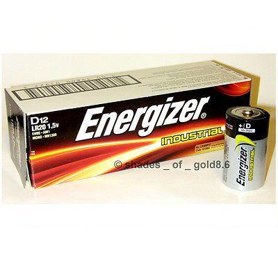 12 Energizer Industrial D Alkaline Batteries En95 Lr20 Ebay Alkaline Battery Energizer Alkaline