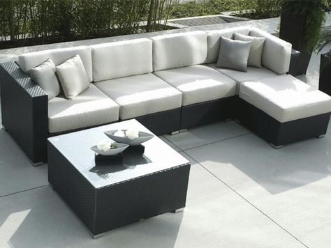 Charming White Square Modern Fiber Clearance Patio Furniture Sets
