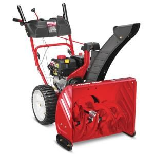 Troy Bilt 24 In 208 Cc Two Stage Gas Snow Blower With Electric Start Self Propelled Storm 2410 The Home Depot In 2020 Gas Snow Blower Snow Blower Snow Blowers