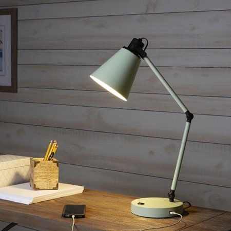 Home In 2020 With Images Lamp Bedside Lamps With Usb Metal Desks