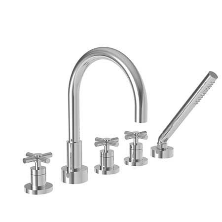 East Linear Roman Tub Faucet With Hand Shower 3 997