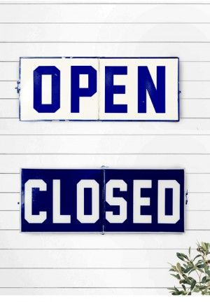 open closed sign open