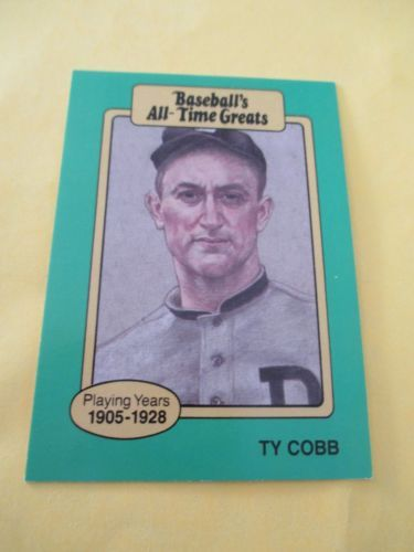 Ty Cobb 1987 Hygrade Baseballs All Time Greats Take A Look