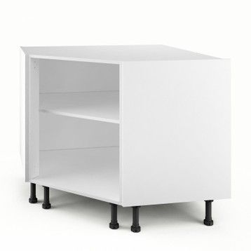 Caisson De Cuisine Bas D Angle Pc100 Delinia Blanc L 100 X H 85 X P 56 Cm Small Kitchen Storage Locker Storage Second Hand Furniture