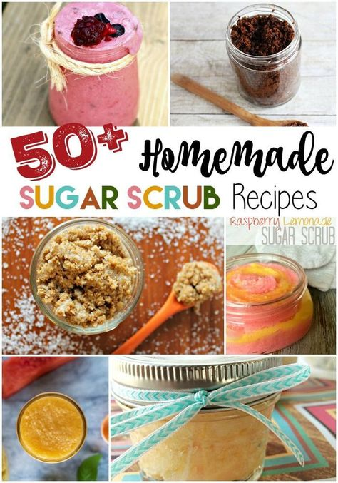 50+ Homemade Sugar Scrub Recipes - this massive collection of DIY sugar scrub recipes will help you with dry skin, exfoliating, and all of them make great DIY gifts!