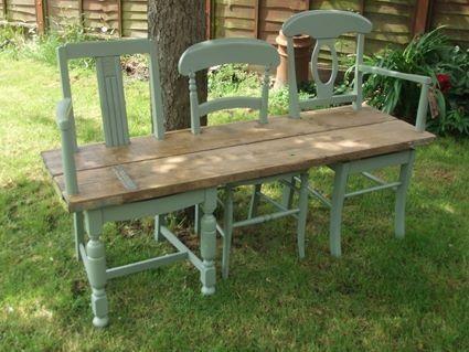 chair Old garden deko benchCreationsRepurposedGarten QWoCerdxB