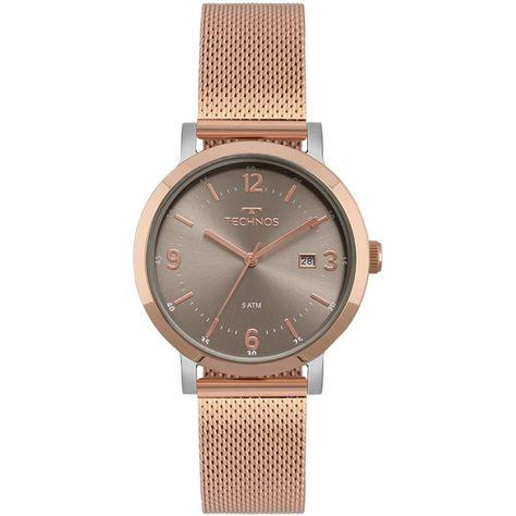 Relógio Technos Feminino Elegance Dress 2115MPF 4C - Relógio Technos  feminino em banho rosé. Sua pulseira é no estilo mesh, na cor rosé gold. e3d565e63c