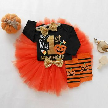 Toddler Infant Baby Girl/'s Romper Tutu Skirt Halloween Costume Outfits Clothes