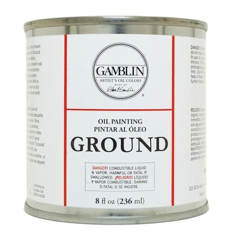 Gamblin Ground In White 8 Oz Michaels Oil Painting Supplies