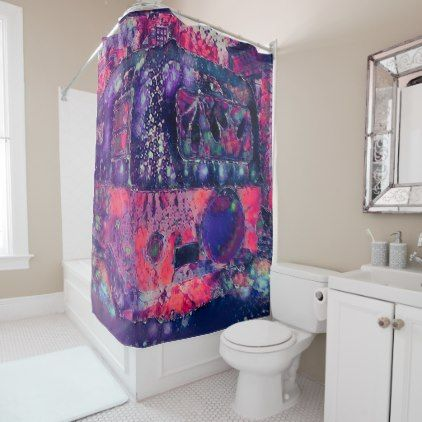 Camper Abstract 1960 S Purple Pink Hippie Shower Curtain Zazzle