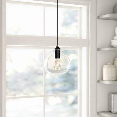 Savala 1 Light Single Bell Pendant In 2020 Single Pendant Lighting Globe Pendant Glass Pendant Light