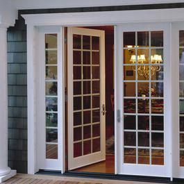Replace Dinning Room Bay Window With French Doors Like The Side Lights Prob Wouldnt Do Mullions Upvc French Doors French Doors Patio French Doors