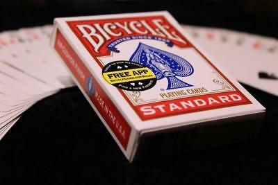 Red backed Magic Cards bicycle as seen on TV brand new trick SVENGALI DECK