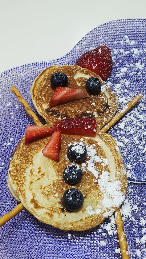 سنومان بان كيك Snowman Pancakes Food The Creator