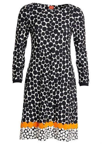 b9f80aba du Milde kjole Re-visited Dots as Karin . Sort hvid hverdagskjole med  prikker