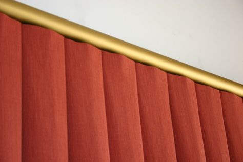 EVO Track with Box Pleat Curtains